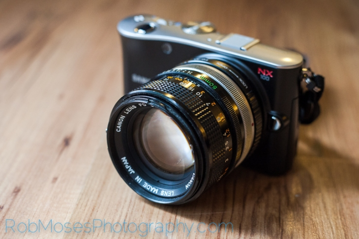Samsung NX100 famous Canon FD 50mm 1.4 adapter - mirrorless camera - Rob Moses Photography