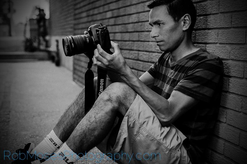 Rob Self Portrait - Rob Moses Photography - Black & White 5D3 5D2 135L 50L selfie photographer