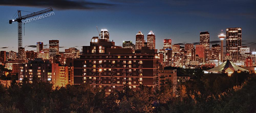 Calgary HDR Skyline RSrm 2013 - Rob Moses Photography - Canadian famous celebrity - photographer artist art