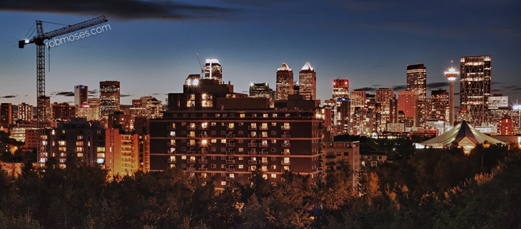 Calgary HDR Skyline RSrm 2013 - Rob Moses Photography - Canadian famous celebrity - photographer artist art