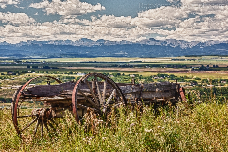 Old Alberta Wagon Calgary rockie mountains landscape sky clouds - Rob Moses Photography