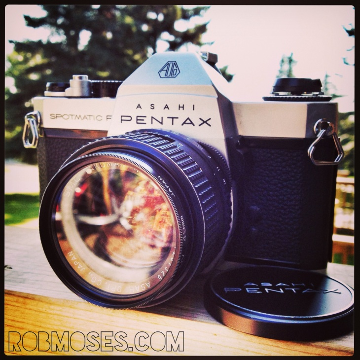 Pentax Spotmatic F 50mm famous vintage hipster celebrity camera - Rob Moses Photography