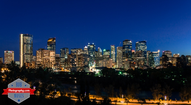 4 Amazing City skyline Calgary Alberta Canada Night long exposure urban metro famous - Rob Moses Photography - photographer modern top best