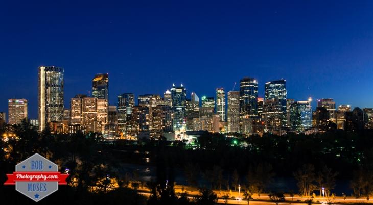 4 Amazing City skyline Calgary Alberta Canada Night long exposure urban metro famous - Rob Moses Photography - photographer modern top best