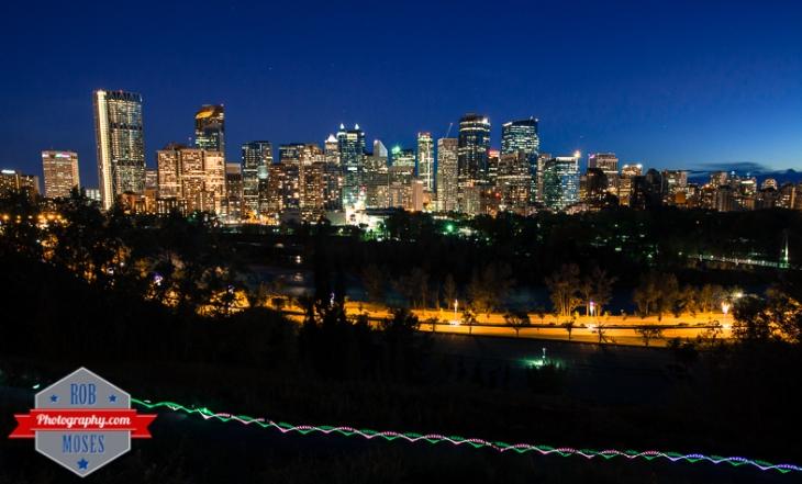 5 Amazing City skyline Calgary Alberta Canada Night long exposure urban metro famous - Rob Moses Photography - photographer modern top best