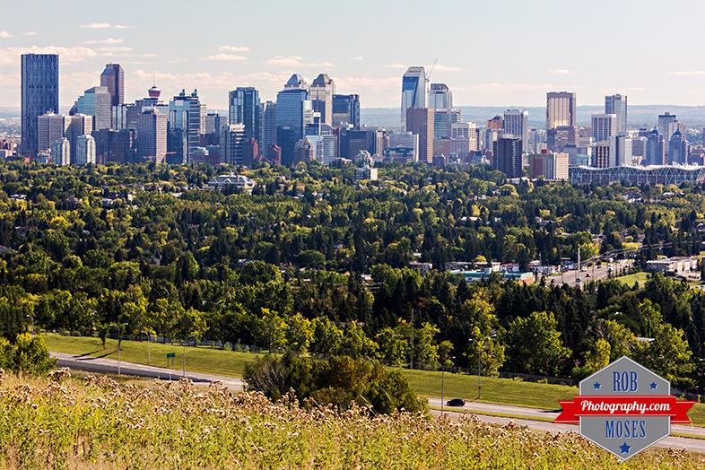 Calgary Alberta Canada famous skyline nose hill park city urban buildings sky - Rob Moses Photography - Photographer
