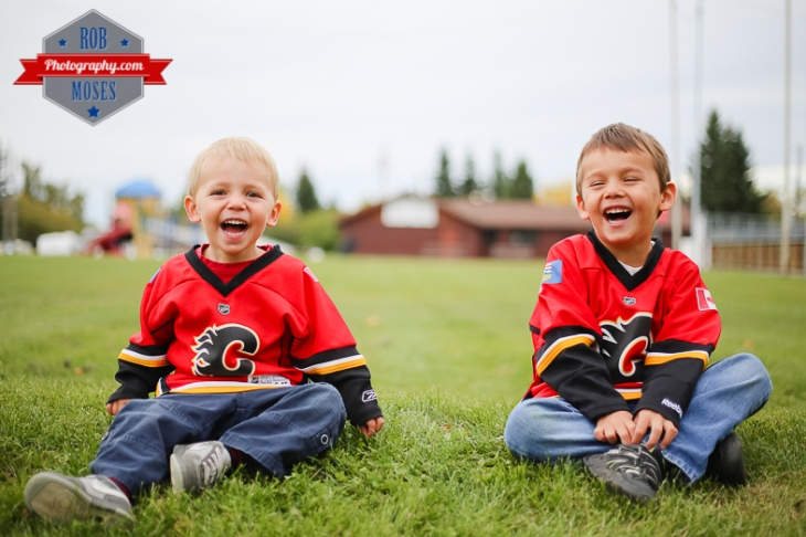 Calgary Flames little boys brothers yyc - Rob Moses Photography-1-4