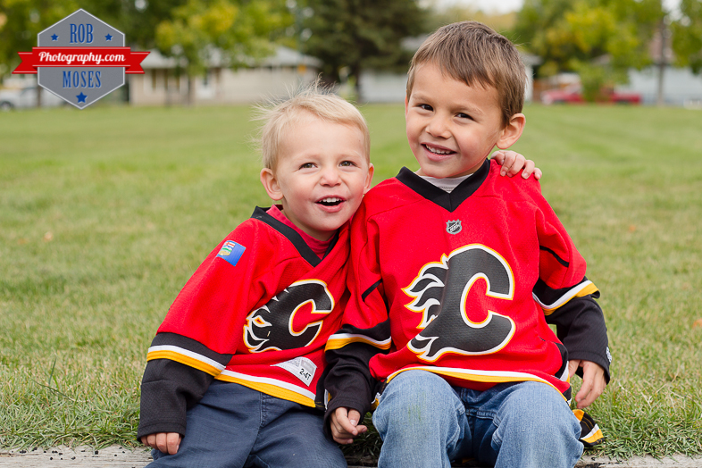 Calgary Flames little boys brothers yyc - Rob Moses Photography-1-7