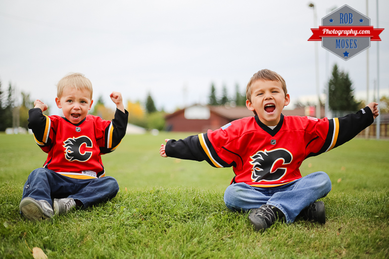 Calgary Flames little boys brothers yyc - Rob Moses Photography-1