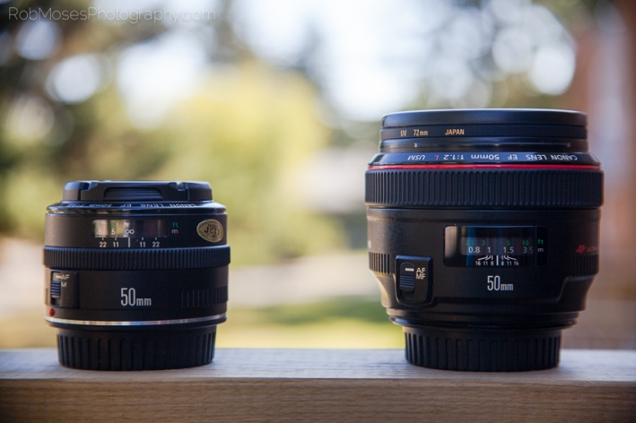 Canon 50mm 1.8 vs 1.2 24-85mm Bokeh L Prime Zoom - Rob Moses Photography