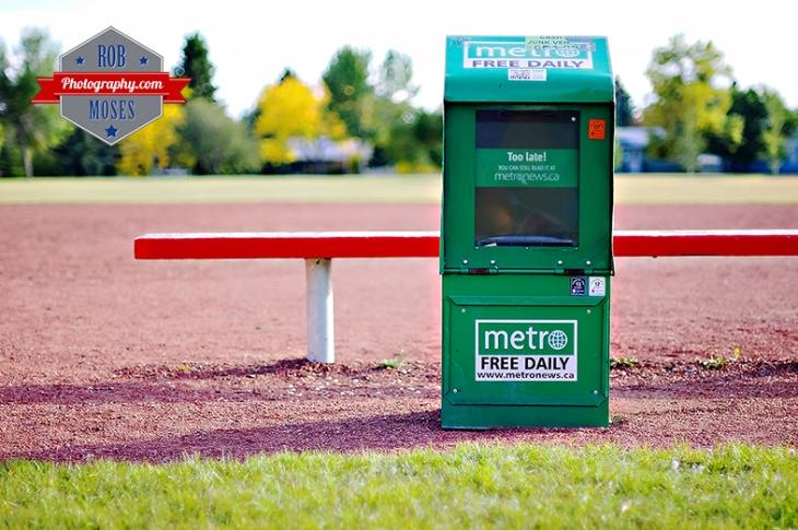 Metro News baseball field famous Calgary Canada - Rob Moses Photography - photographer