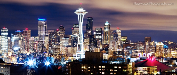 Seattle Washington famous skyline night kerry park celbrity US American Canadian lights - Rob Moses Photography