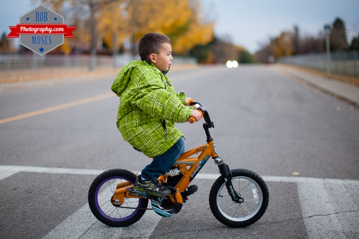 2 Kids kid child children bike ride fun bokeh evening night Canon 50L - Rob Moses Photography
