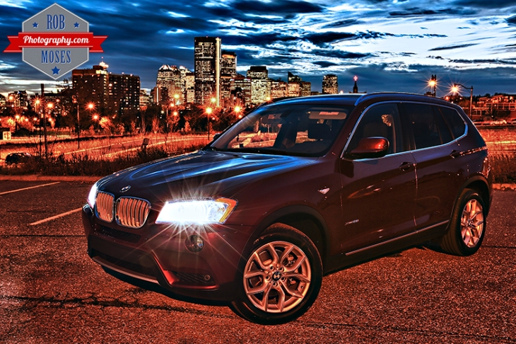 2014 BMW X3 Calgary Canada City Skyline Urban - Rob Moses Photography