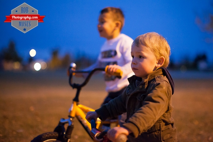 5 Kids kid child children bike ride fun bokeh evening night Canon 50L - Rob Moses Photography