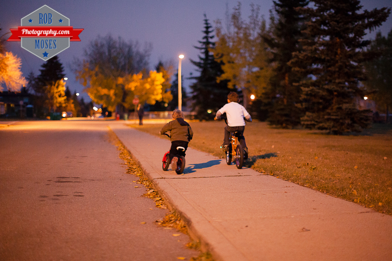 6 Kids kid child children bike ride fun bokeh evening night Canon 50L - Rob Moses Photography