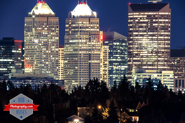 Calgary Alberta far famous Canadian skyline south 500mm Sigma Bigma 50-500mm - Rob Moses Photography - Photographer city