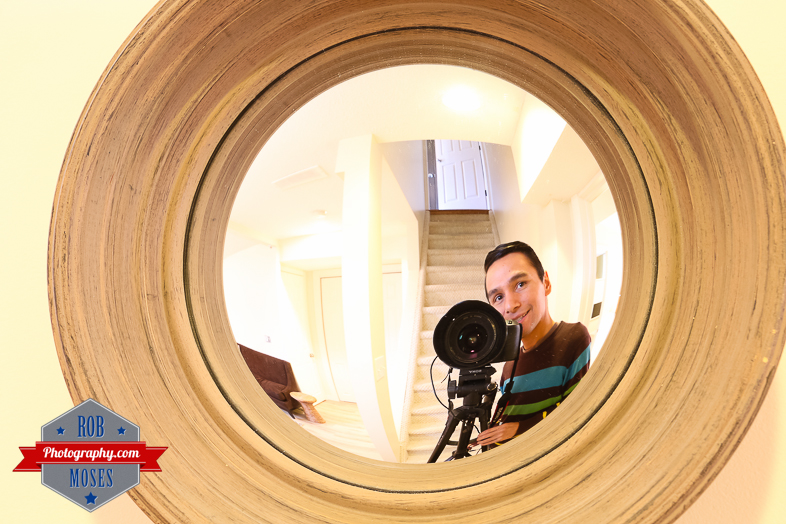 Photographer Selfie fisheye mirror 5D3 5Diii 16-35L guy man dude - Rob Moses Photography. Vancouver Calgary NYC Seattle