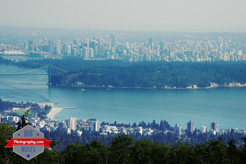 Vancouver BC Canada Skyline City ocean beach island big - Rob Moses Photography