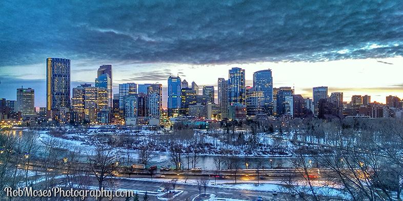 Calgary Alberta Canada City Skyline Winter - Rob Moses Photogarphy - HTC One Phone HDR Snapseed