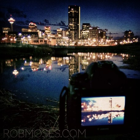 Calgary Canada HTC One Canon 7D Skyline reflection instagram Rob Moses Photography