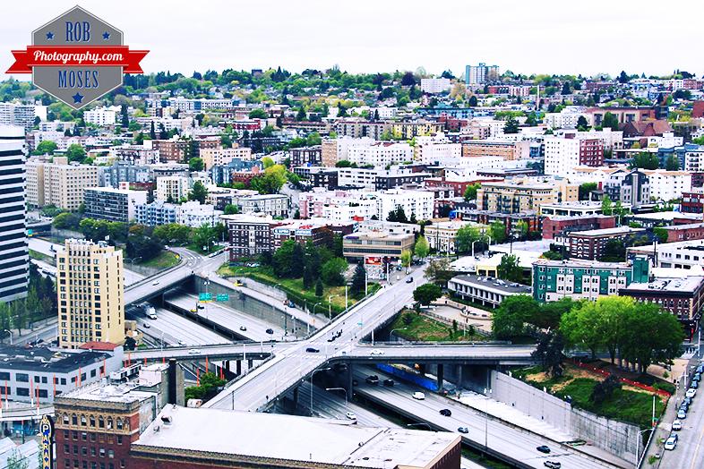 Capitol Hill Seattle Washington USA WA i5 freeway apartments buildings - Rob Moses Photography