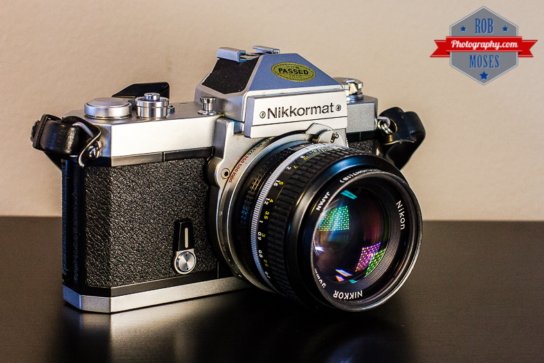 Nikkormat Nikon FT Old School Vintage Hipster Film Camera 50mm LED - Rob Moses Photography - Calgary Vancouver Seattle NYC