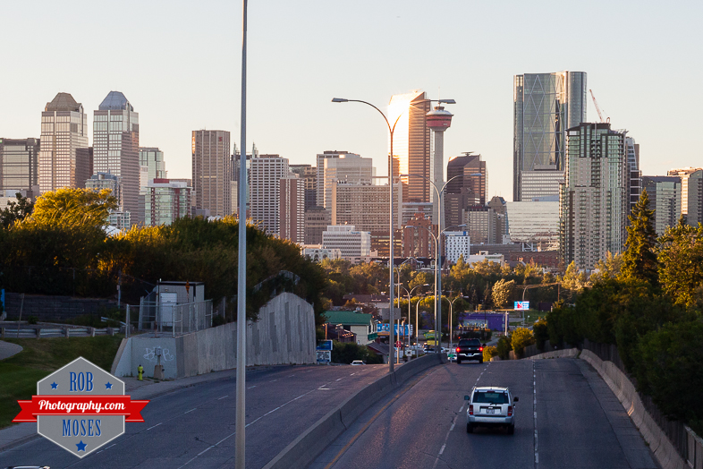 Street City Skyline Calgary Canada - Rob Moses Photography