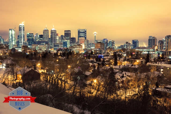 Calgary Alberta Winter Skyline Night - Rob Moses Photography-1-4