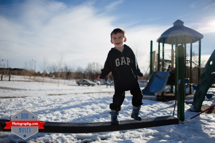 Children boys kids fun Calgary Winter Bridgeland yyc excited fun jumping running yahoo - Rob Moses Photography - Family-13