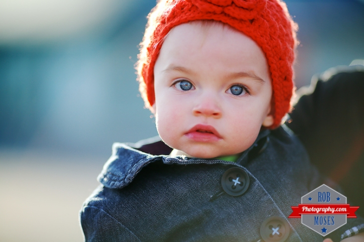 hat baby bokeh Calgary Alberta - Rob Moses Photography