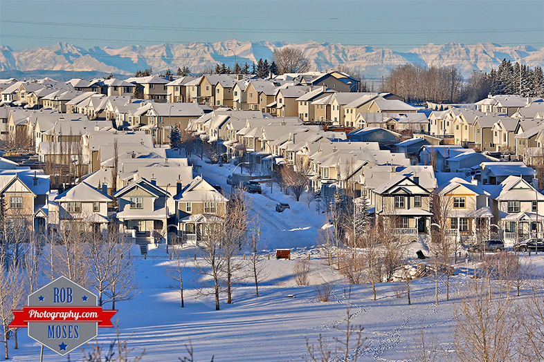 Snow Tuscany neighbourhood Calgary Alberta Canada YYC Winter Famous Rocky Mountains - Rob Moses Photography - Photographer