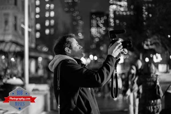 1 Photographer shooting street photography Calgary Bokeh Downtown urban city life - Rob Moses Photography - Vancouver Seattle Twitter Star Celebrity Famous Rode Mic Guy Stranger