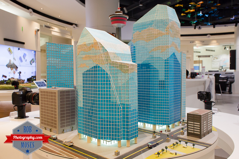 5 Canon Image Square Calgary Alberta Canada - Rob Moses Photography - Famous mini city YYC buildings model - Photographer