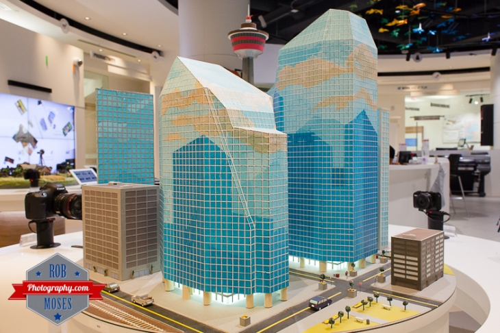 5 Canon Image Square Calgary Alberta Canada - Rob Moses Photography - Famous mini city YYC buildings model - Photographer