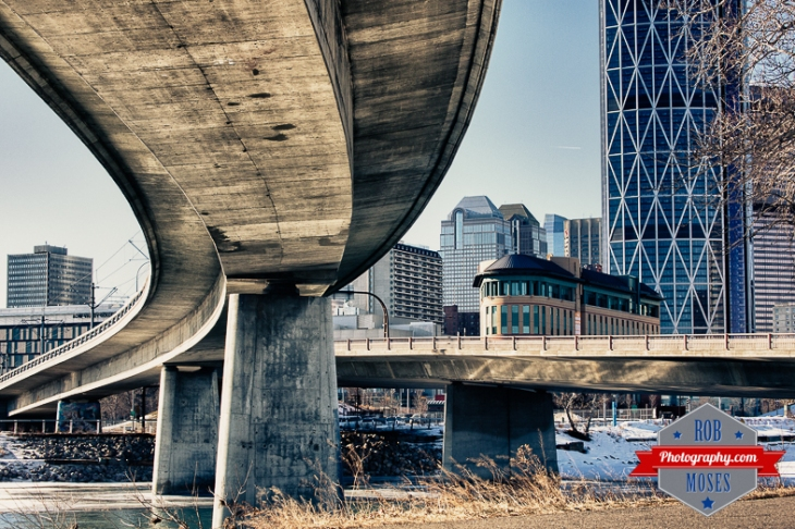 Calgary Alberta Canada City Urban Metro buildings bridges famous bow river - Rob Moses Photography - Vancouver Seattle Photographer