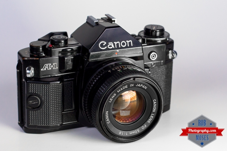 Canon A-1 Famous SLR A1 film 50mm Japan old school vintage hipster studio lighting off camera flash LED - Rob Moses Photography - Vancouver Seattle Calgary Photographer
