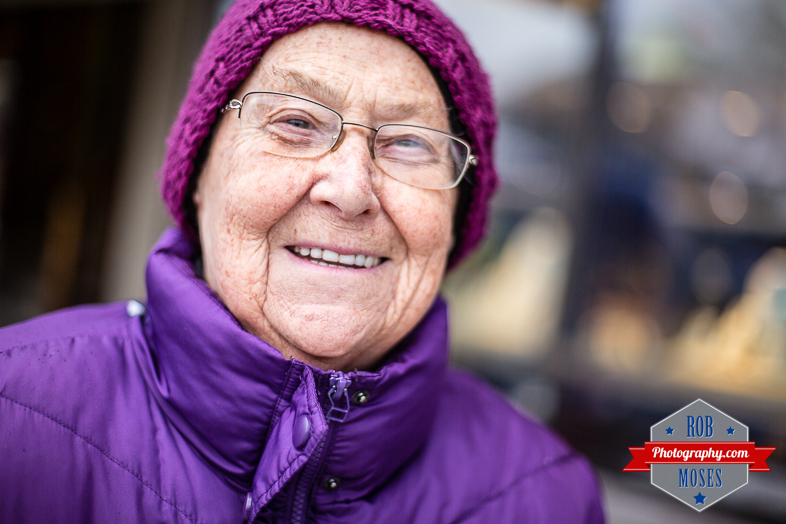 Old Woman senor citizen headshot street photography stranger cute - Rob Moses Photography