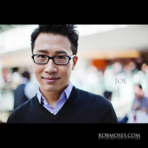 Joe 1.1 - The People of Calgary - Man Guy Asian glasses bokeh head shot portrait stranger - Rob Moses Photography - Vancouver Seattle Photographer