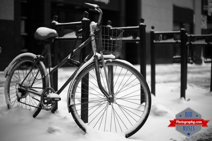 Old Raleigh bike snowy calgary alberta street yyc - Rob Moses Photography - Vancouver Seattle Photographer-1