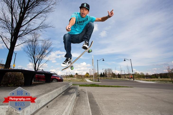 Blog Blogger Skateboard Selfie skateboarding peace self portrait - Rob Moses Photography - Seattle Vancouver Calgary Photographer Native American Photographers