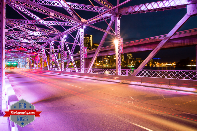 Calgary Alberta Canada old bridge night lights city yyc - Rob Moses Photography - Seattle Vancouver Calgary Photographer Native American Photographers 2.jpg