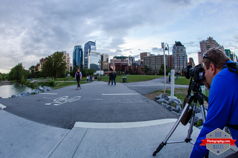 fisheye yyc buildings shooting tripod photog - Rob Moses Photography - Vancouver Seattle Calgary Photographer Photographer Native American Famous Tlingit Ojibawa Top Popular Best Canadian Lifestyle