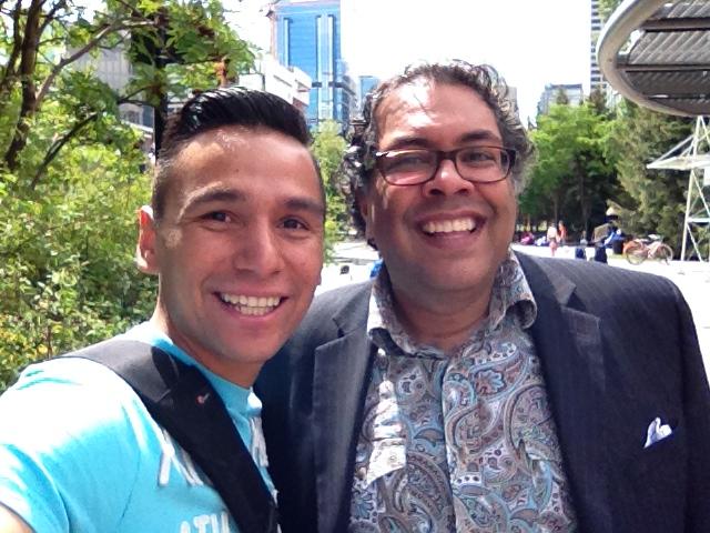Rob Moses Mayor Naheed Nenshi buddies pals Calgary dudes yyc celebrity famous random iphone 4s selfie
