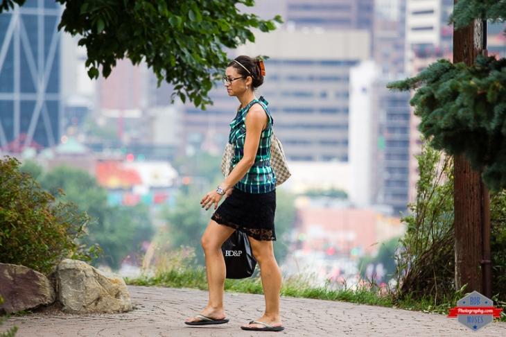 Beautiful Woman Girl walking YYC urban city bokeh street - Rob Moses Photography - Vancouver Seattle Calgary Photographer Photographer Native American Famous Tlingit Ojibawa Top Popular Best Canadian Lifestyle-3
