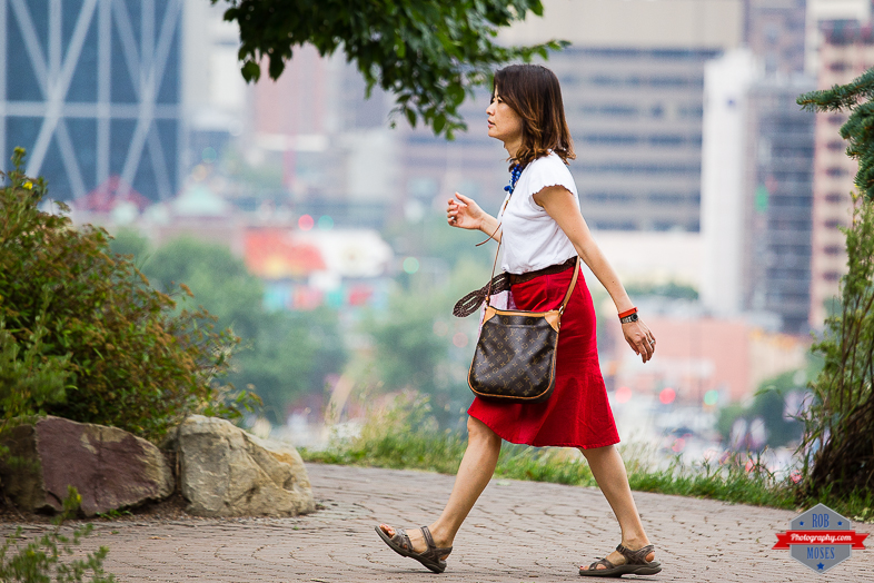 Woman Girl walking YYC urban city bokeh street - Rob Moses Photography - Vancouver Seattle Calgary Photographer Photographer Native American Famous Tlingit Ojibawa Top Popular Best Canadian Lifestyle-7