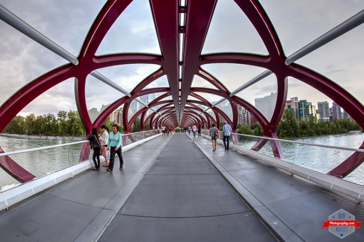 YYC future Peace Bridge fisheye uran modern - Rob Moses Photography - Vancouver Seattle Calgary Photographer Photographer Native American Famous Tlingit Ojibawa Top Popular Best Canadian Lifestyle