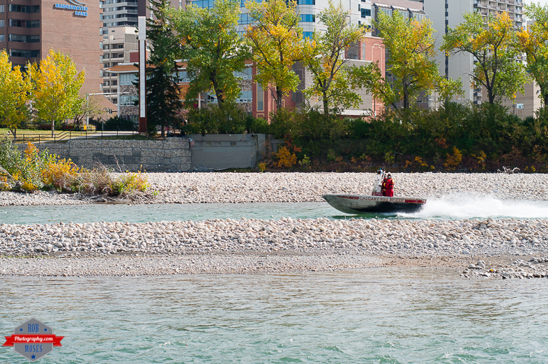 Calgary Fire Rescue boat bow river fast yyc - Rob Moses Photography - Native American Alaskan Famous Tlingit - Seattle Top Vancouver Photographer Popular Photographers