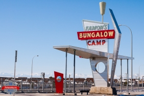 Eamons Eamon's Bungalow Camp Sign YYC Tuscany C-train station rocky mountains rockies - Rob Moses Photography - Vancouver Seattle Calgary Photographer Photographer Native American Famous Tlingit Ojibawa Top Popular Best Canadian Lifestyle
