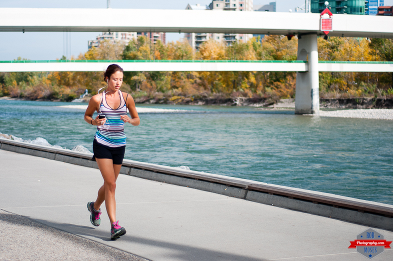 Woman girl running run runner jogging fitness fit bow river yyc street - Rob Moses Photography - Native American Alaskan Famous Tlingit - Seattle Top Vancouver Photographer Popular Photographers-4